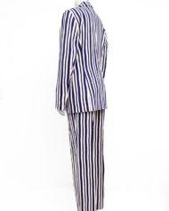 2-delig damespak donkerblauw en beige gestreept Jean Paul Berlin