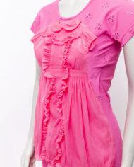 2007 Comme des Garçons roze maxi-jurk met opgenaaide babyjurk