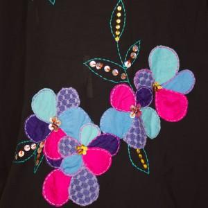 3527-vintage-zwart-chiffon-vestje-versierd- bloemen-patches-kralen-4