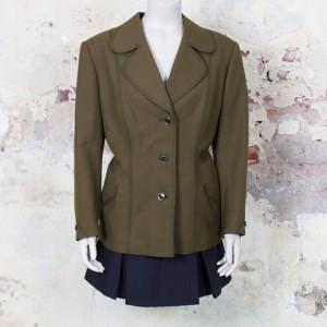 3591-olijfgroen-vintage-jasje-blazer-ronde-revers-kraag-sixties-1
