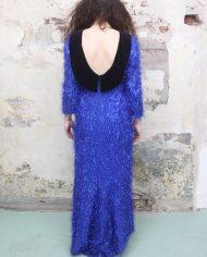 3732-Blauwe-furry-vintage-glitter-jurk-open-rug-2
