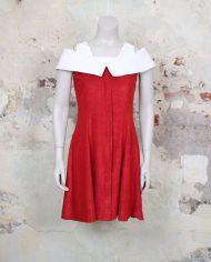 4335-vintage-rode-sixties-jurk-witte-kraag-1