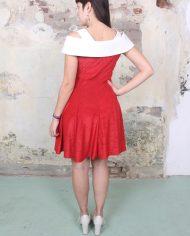 4335-vintage-rode-sixties-jurk-witte-kraag-2-1