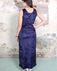 4703-Lange-eighties-vintage-donkerblauwe-velours-jurk-2