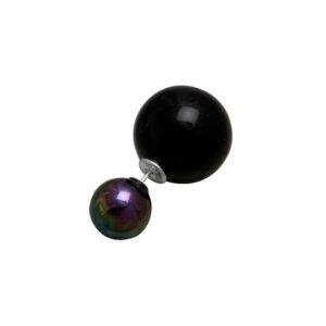 4772-zilveren-dubbele-parel-tribal-oorbel-zwart-olie-1