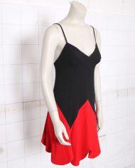 4884-vintage-moschino-cheap-chic-zomerjurkje-zwart-rood-2