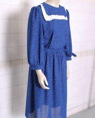 4943-blauwe-vintage-jurk-zwart-wit-geo-print-2