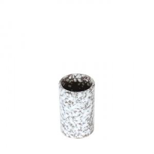 4974-kleine-vintage-vaas-bruin-witte-spikkel