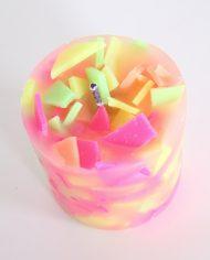 4984-handgemaakte-tuinkaars-flakes-kleuren-fluor-3