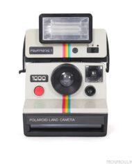 Polaroid 1000 Rainbow rood + Polatronic 1