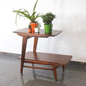 5104-vintage-teak-houten-bijzettafel-serveertafel-drankkar-1