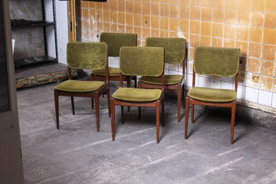 5 vintage deens design eetkamerstoelen froufrou 39 s for Bauhaus design stoelen