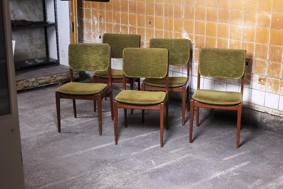 5 vintage Deens design eetkamerstoelen - Froufrou\'s