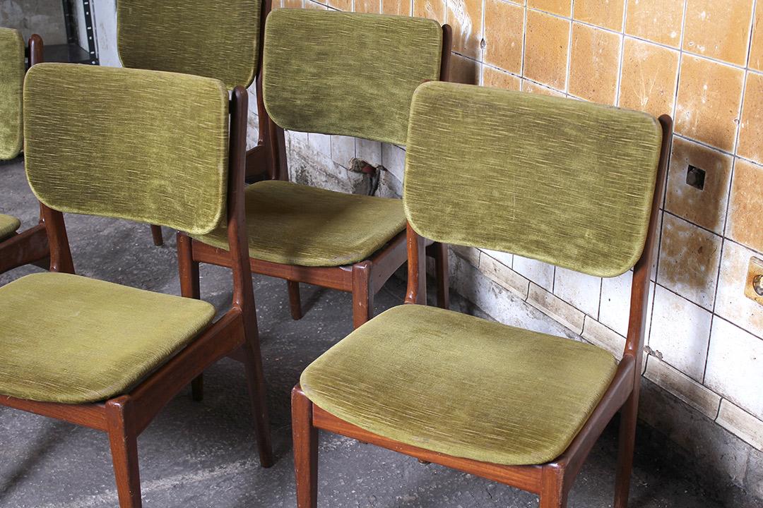6 Design Eetkamer Stoelen.5 Vintage Deens Design Eetkamerstoelen