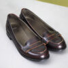 Bruine leren loafers