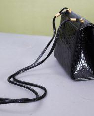 5138-vintage-zwart-lak-schoudertasje-slangenleer-print-2