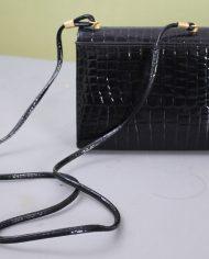 5138-vintage-zwart-lak-schoudertasje-slangenleer-print-4