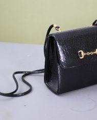 5138-vintage-zwart-lak-schoudertasje-slangenleer-print-5