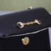 Zwart klassiek vintage schoudertasje