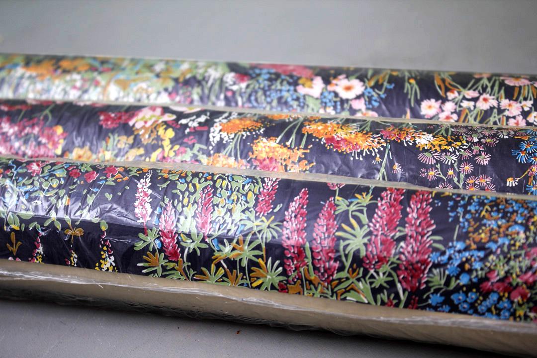 Vintage behang met bloemen 3 rollen froufrou 39 s for Wat kost een rol behang