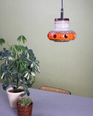5140-vintage-west-germany-keramieken-lamp-fat-lava-gaten-oranje-bruin
