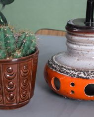 5140-vintage-west-germany-keramieken-lamp-fat-lava-gaten-oranje-bruin3