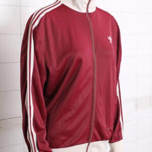 Vintage Adidas trainingsjack bordeaux