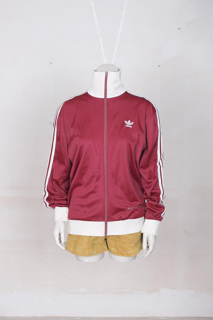 Beste Vintage Adidas trainingsjack bordeaux - Froufrou's JK-95