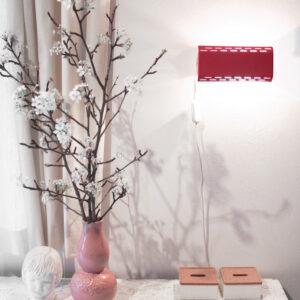 Rood Massive vintage wandlampje