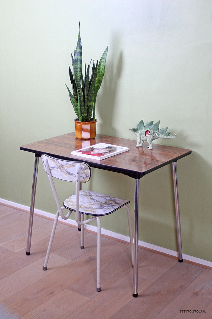 bruine formica tafel 90 x 60 5 froufrou 39 s
