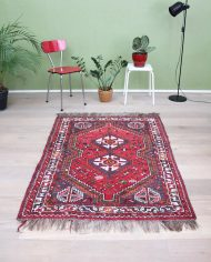 5219-vintage-perzisch-vloerkleed-handgeknoopt-iran-rood-5