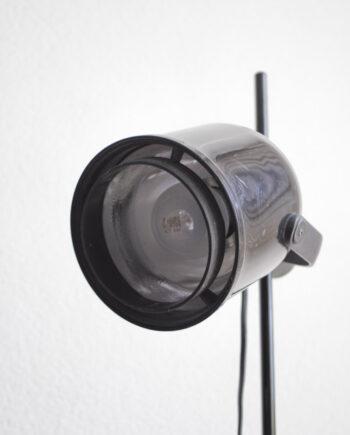 Zwarte vintage vloerlamp spot
