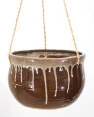 5295-vintage-bruine-keramiek-hangpot-plantenhanger-bloempot-jaren-70-4