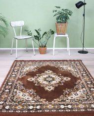 5299-vintage-bruin-tapijt-vloerkleed-tafelkleed-oosters-perzisch-3