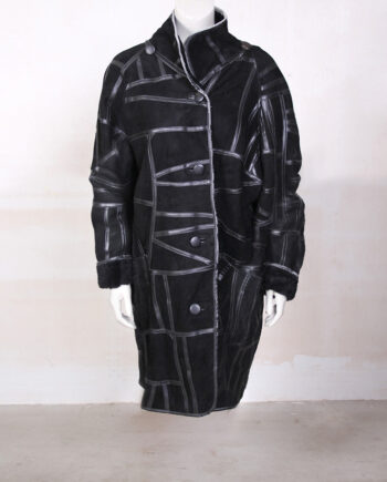 Vintage lammy coat zwart
