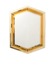80s Art Deco spiegel Hexagon