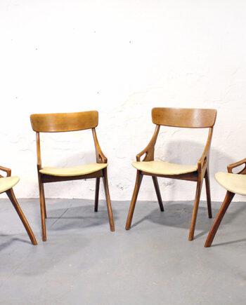 Arne Hovmand Olsen vintage eetkamerstoelen
