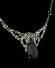 Art Nouveau collier Hematiet & Markasiet
