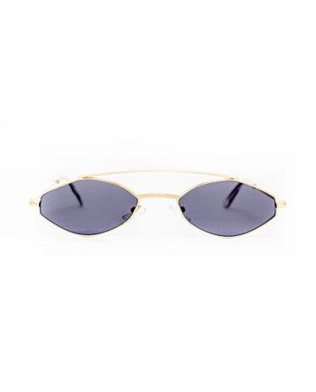 Aviator-like zonnebril met goudkleurig montuur