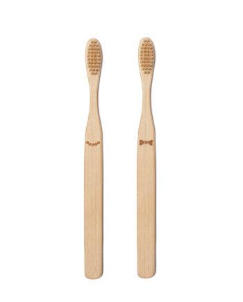 Bamboe tandenborstel Kikkerland His Her