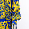Barok blouse vintage blauw geel Jack Jones