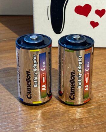 Batterij adapter C naar AA set