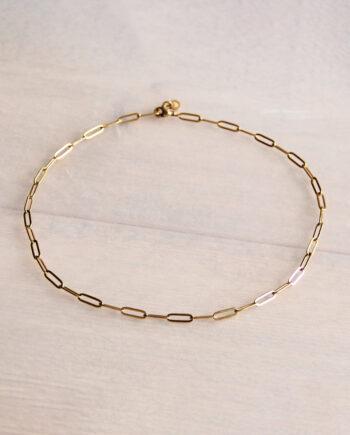 Bazou stalen chain ketting goud- of zilverkleurig