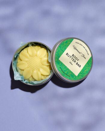 Body butter bar in een blikje - Litsea