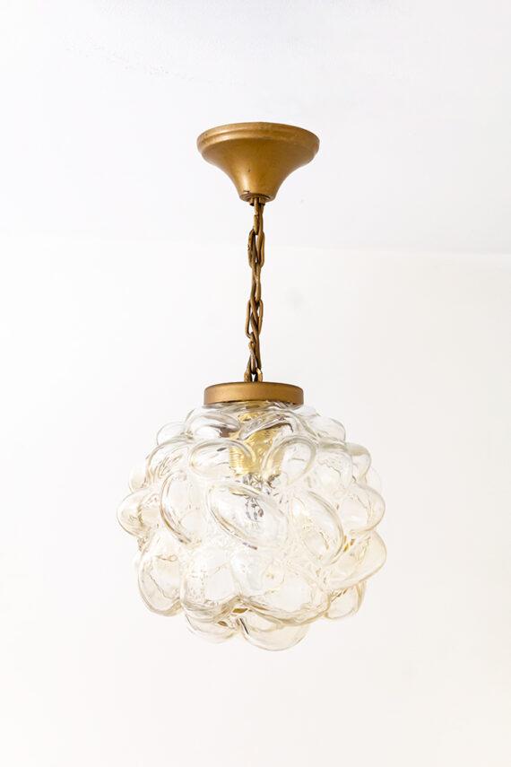 Bubbel hanglamp Helena Tynell & Heinrich Gantenbrink voor Glashutte Limburg jaren 60
