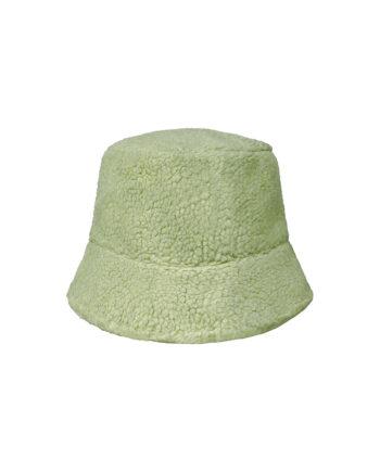 Bucket hat van zachte teddy stof
