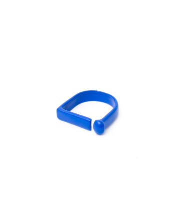 Candy color ring blauw geometrisch gecoat metaal