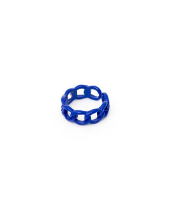 Chains candy color ring gecoat metaal blauw/lila/wit
