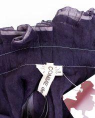 Comme des Garçons 2007 wijdvallende donkerblauwe asymmetrische broekrok
