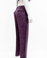 Comme des Garçons Homme Plus pantalon zwart met paarse stip 2007